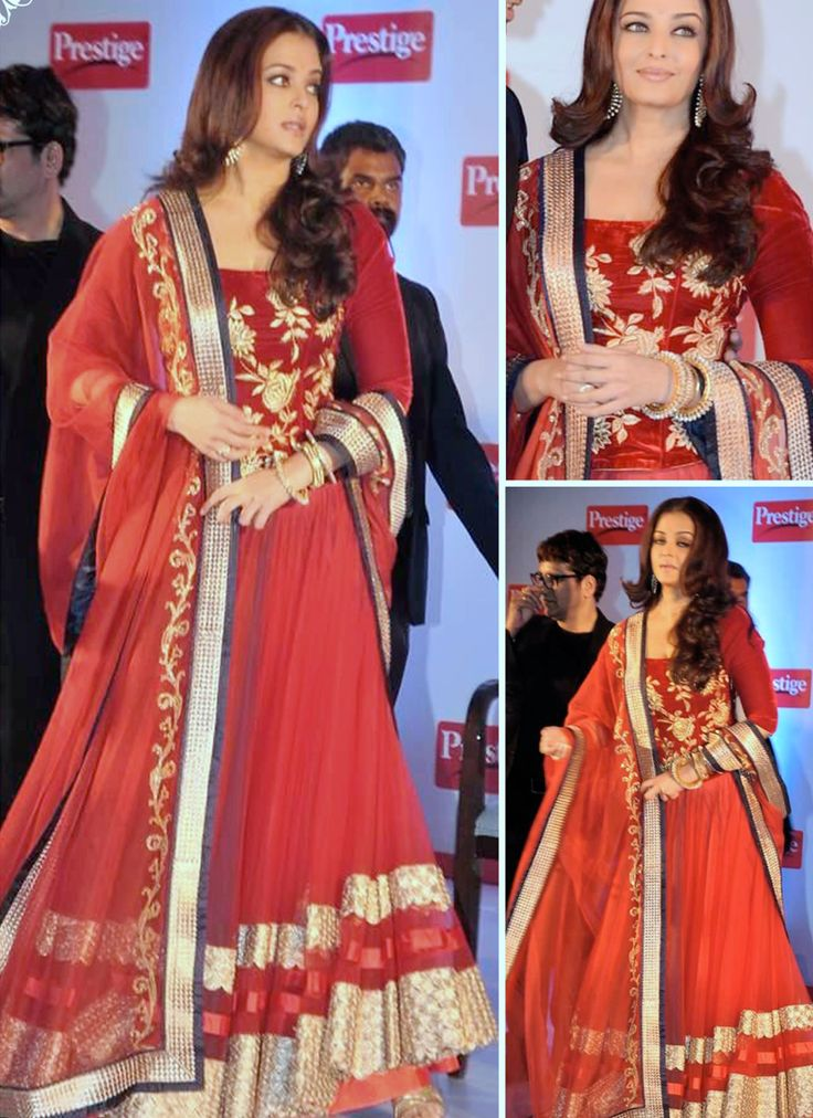 Aishwarya Rai Bachchan Rust Net Bollywood Lehenga Choli ...