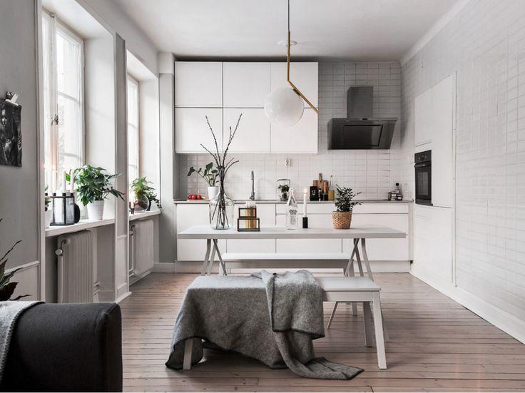 İskandinav mutfak dekorasyonu  #dekorasyon #mutfak