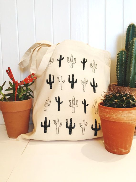 Cactus Tote // Canvas Bag, Cactus, Shopper from The Native State