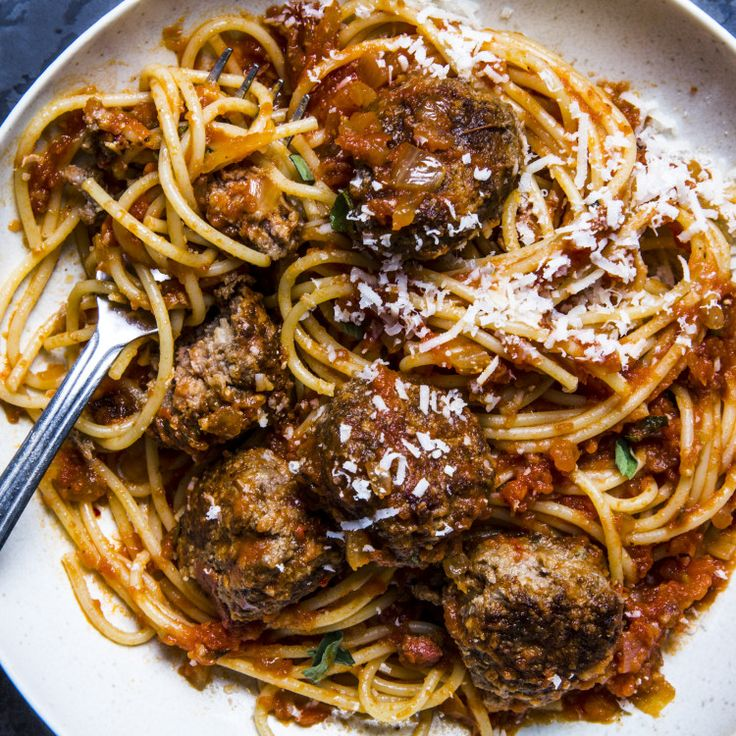 This spaghetti and meatballs all'Amatriciana is part of BA's Best, a ...