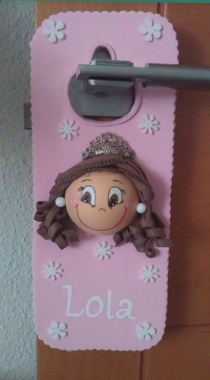 Colgador de puertas - Princesa