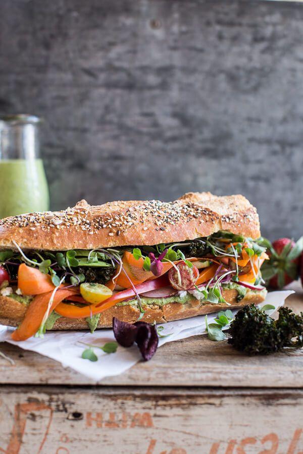 California Veggie Sandwich with Green Goddess Dressing
