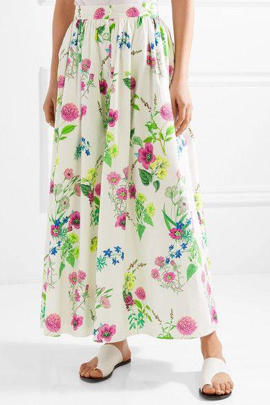 f9070681b MDS Stripes - Floral-print cotton-poplin maxi skirt | SO P R E T T Y ...