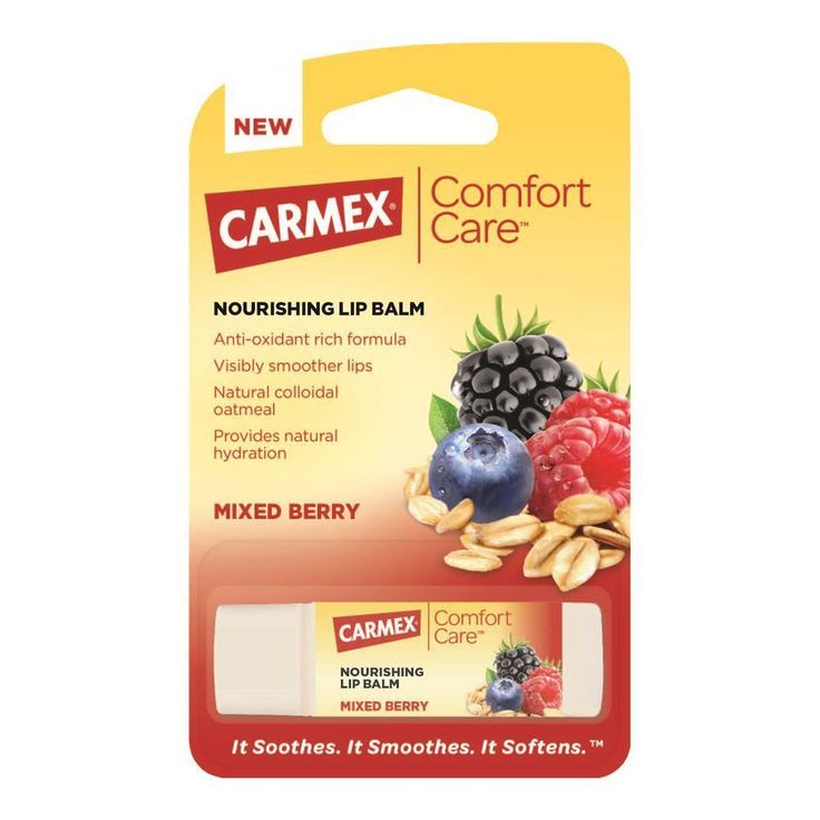 100% natural formula to soothe and nourish your lips. Free delivery when you buy Carmex Comfort Care Lip Balm Mixed Berry Stick and spend over £10.