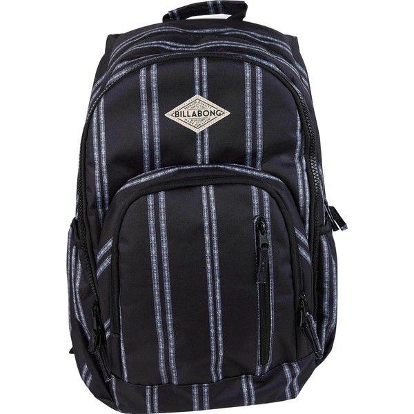 Roadie Backpack ($50) ❤ liked on Polyvore featuring bags, backpacks, billabong backpacks, water resistant backpack, zipper pencil bag, water bottle backpack and vertical backpack