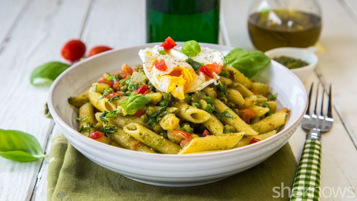 This vegetarian pesto pasta full of peas and potatoes is perfect for Meatless Monday