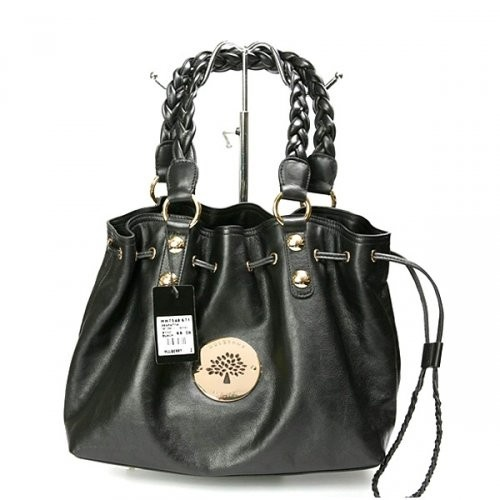 Amazing Mulberry Women Daria Drawstring Leathers Black Tote Bag For £168.86