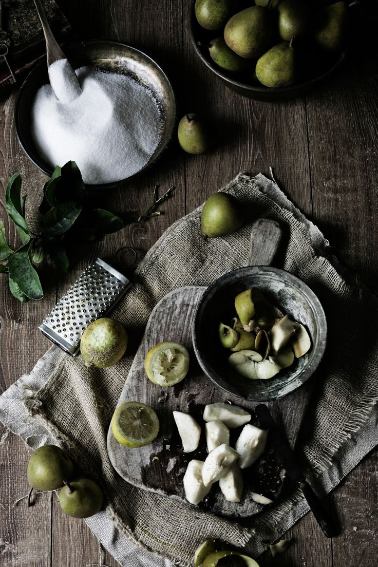 Pratos e Travessas: Doce de pêra e limão # Pear and lemon jam | Food, photography and stories