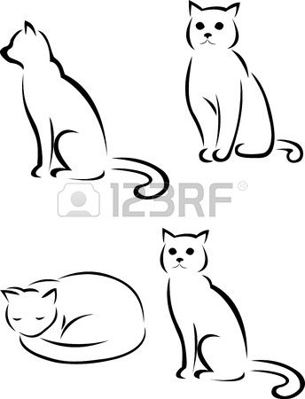 cat silhouette Stock Vector