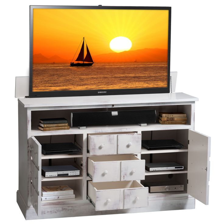 1000 images about tech oration on pinterest wall mount for Tv lift consoles for flat screens