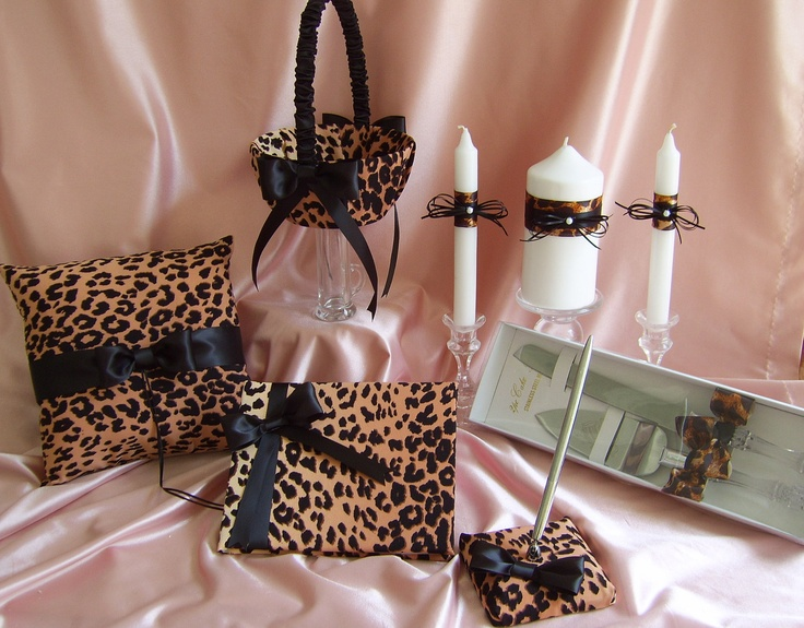 Leopard Print Wedding Accessories : Leopard Print Wedding Guest Book. $55.00, via Etsy.