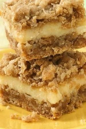 Lemon Creme Bars - oatmeal cookie mix jump-starts the crust.
