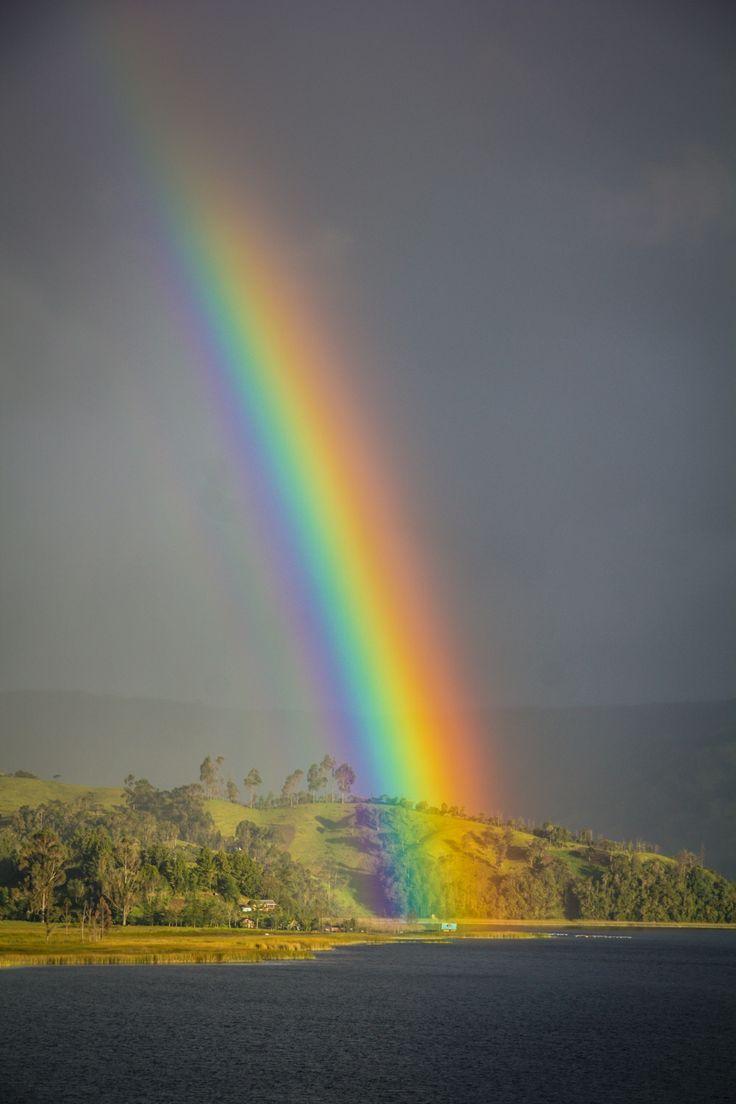 Rainbow in la Cocha, Pasto - Colombia ©Carmen Hidalgo