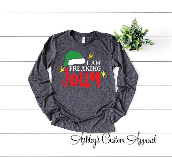 Funny Christmas Baby Onesies\u00ae Custom Christmas Baby Shirt Custom Winter Baby Onesies\u00ae Funny Text Baby Onesies\u00ae Jolly AF Onesies\u00ae