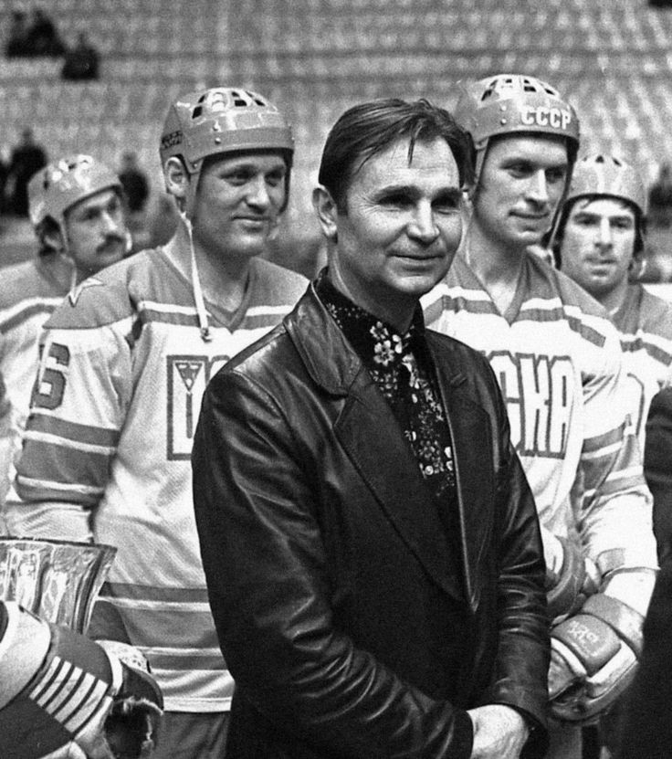Viktor Tikhonov - Former Soviet & Central Red Army coach ** Note the black leather with flowered shirt combo!