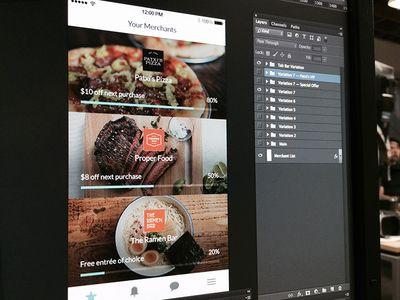 Thanx App 3.0 Merchants screen