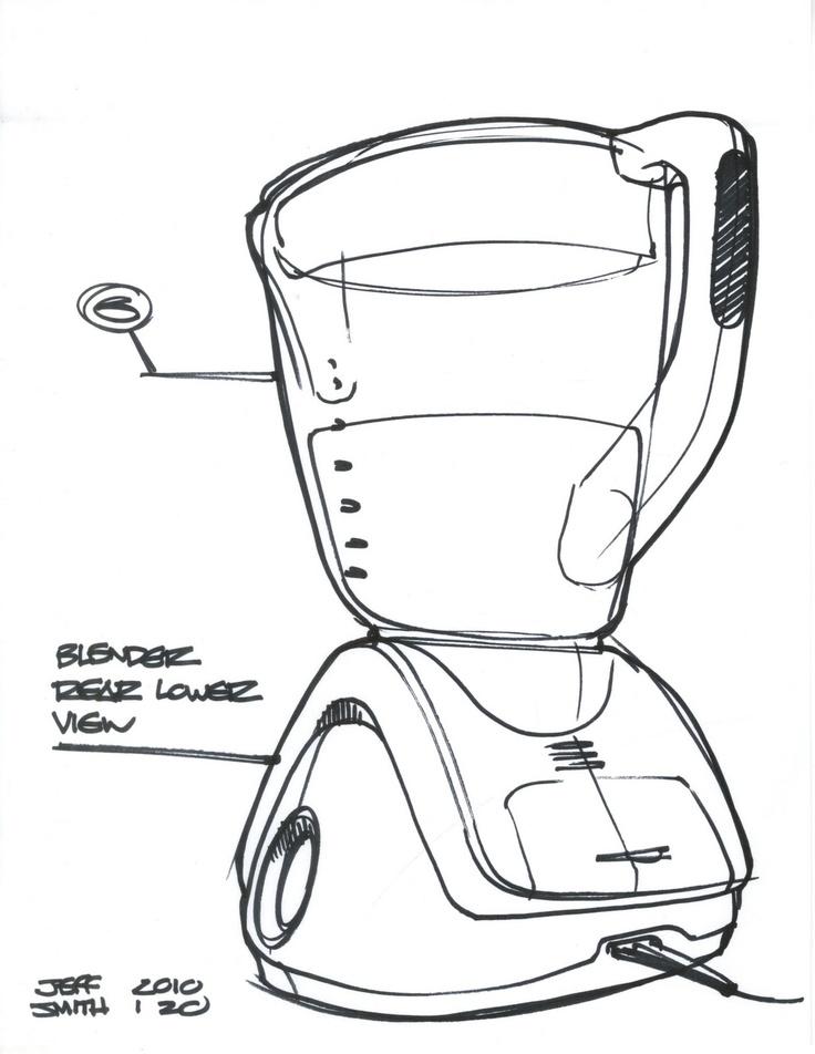 sketch limpio de licuadora