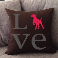 German Shorthaired Pointer Love Pillow