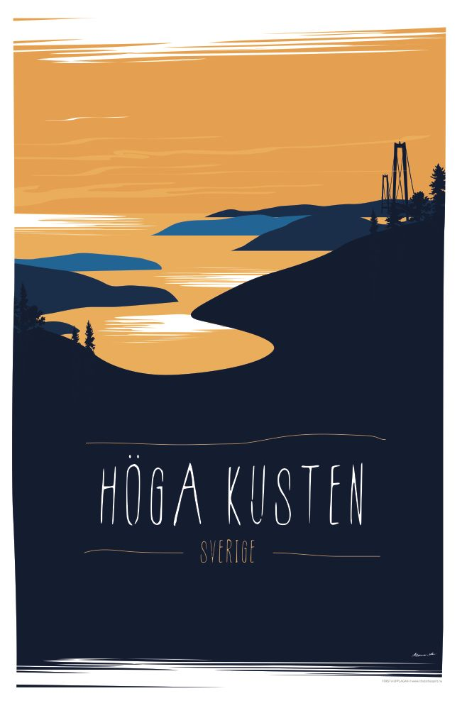 Poster 50x70 The High Coast