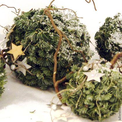 Новогодние шары - зелёный,винтаж,Новый Год,декор новогодний,украшение к дому