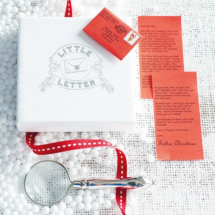mini father christmas letter by little letter | notonthehighstreet.com