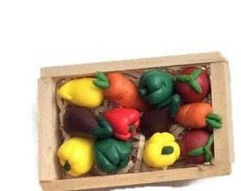 Vegetable crate magnets, Unique refrigerator magnets, wooden fridge Magnets, locker magnets, party favor, gifts for chefs, gifts for cooks,