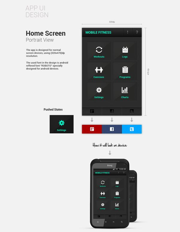 Fitness App by Banzu , via Behance