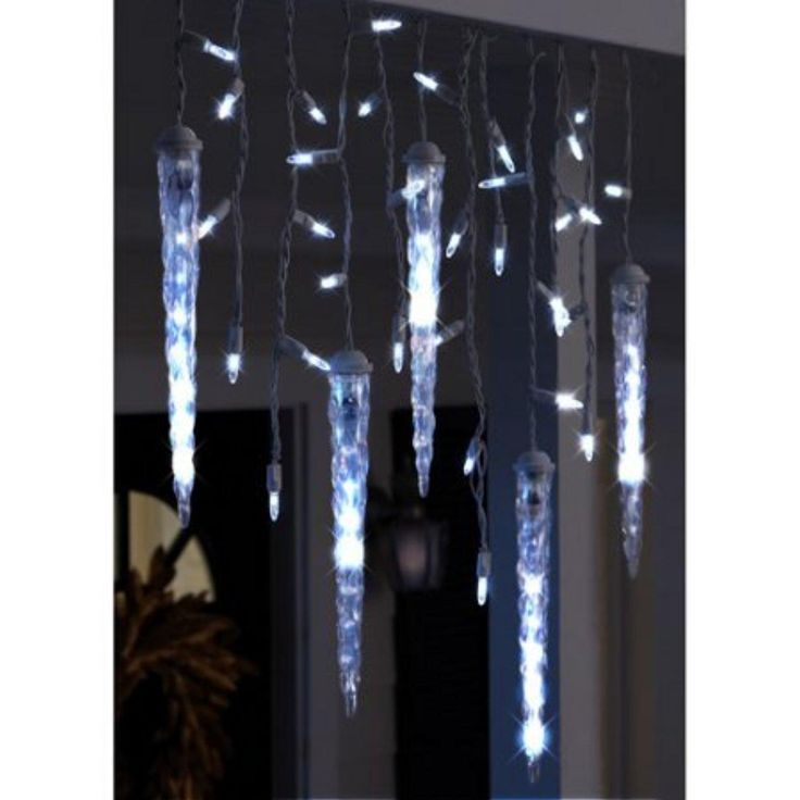 Gemmy Cool White Led Icicle Christmas Lights 9 5 Long