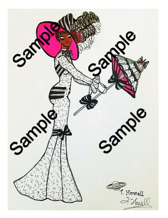 African American/Black Art My Fair Lady Playing Cards  #myfairlady #african #black #africanamerican #victorian #edwardian #artnouveau #vintage #fashion #art #illustration #glamorous #games #chic #lady #feminine #lace #parasols #derby #films #classic #audreyhepburn #audrey #eliza #doolittle