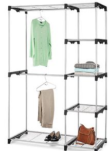 Whitmor Double Rod Freestanding Closet Only $35!    Http://couponingforfreebies.com