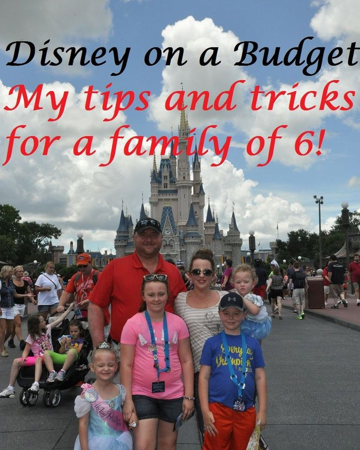 Disney on a Budget - Affordable tips for a Disney World Vacation for a family of 6