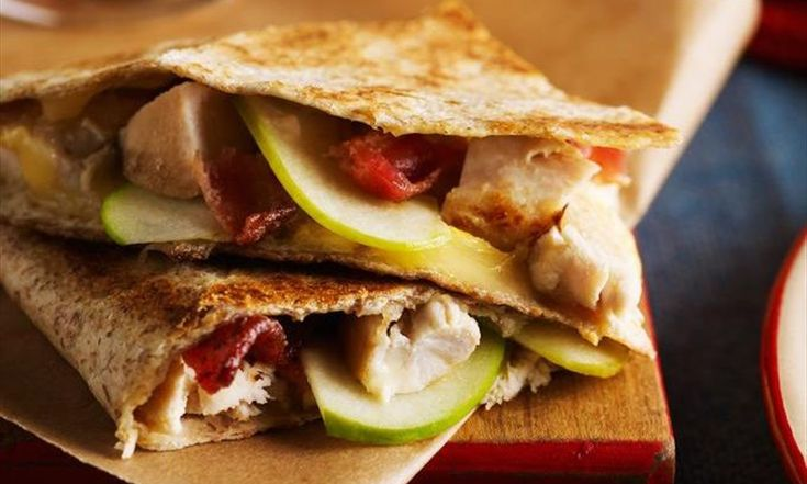 Quesadillas de poulet au fromage grillé et au bacon | Le Poulet du Québec