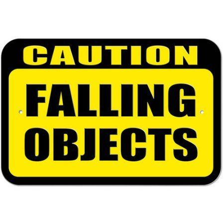 Caution Falling Objects Sign