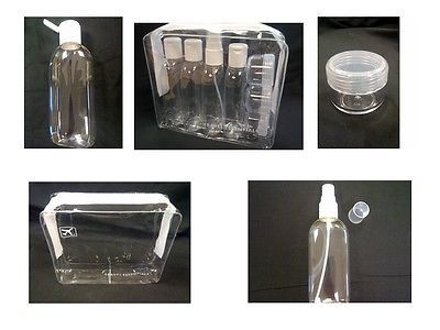#Holiday travel bottles - #100ml clear bottles & #bags- airport security approved,  View more on the LINK: http://www.zeppy.io/product/gb/2/191091165102/