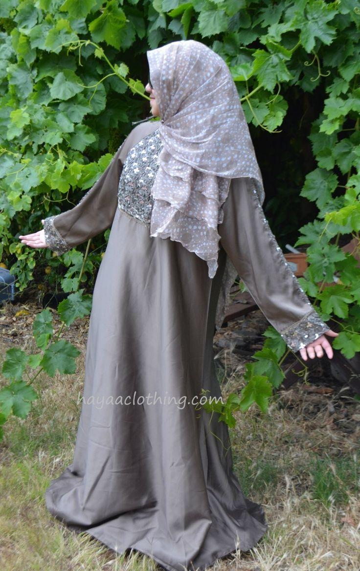 Hayaa Clothing - Fancy Umbrella Satin Abaya Ribbon Embellishment - MOCCA, $69.99 (http://www.hayaaclothing.com/fancy-umbrella-satin-abaya-ribbon-embellishment-mocca/)