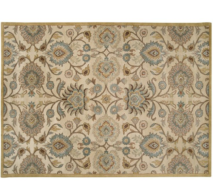 Caesar rug 8 39 x11 39 warm beige and golds with rich brown for Warm rugs