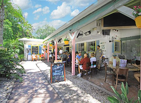 The Island Cow, Sanibel Island. Eat indoor or out - nice outdoor space to play cornhole, etc. Friendly and efficient staff. Yummy food, of course.