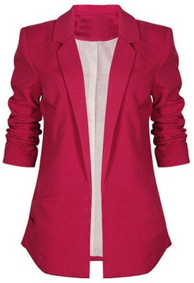 Cute business jacket!Red Blazers, Fashion, Skinny Jeans, Clothing, Buttons Soft, Rose Blazers, Pink Jackets, Pink Blazers, Dreams Closets