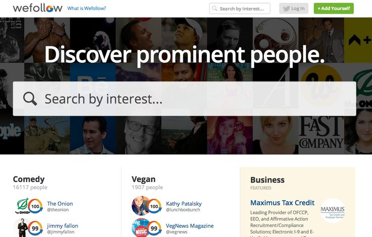 About.me buys people directory Wefollow