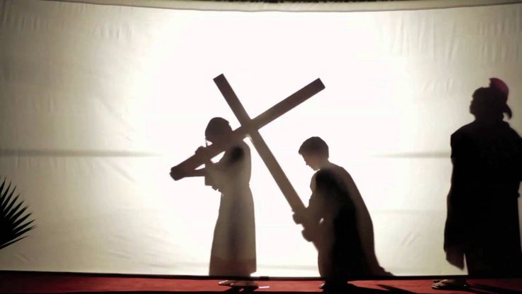 The Stations of the Cross, Shadow Play, this would be awesome to do at station of the cross that we host