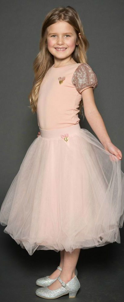 90ffff8d6826 ANGEL'S FACE Girls Pink Sequin T-Shirt & Tulle Skirt. Perfect vintage style  shirt and skirt for a little princess at any special occasion or night out  on ...