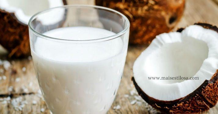 hidratação caseira com leite de coco