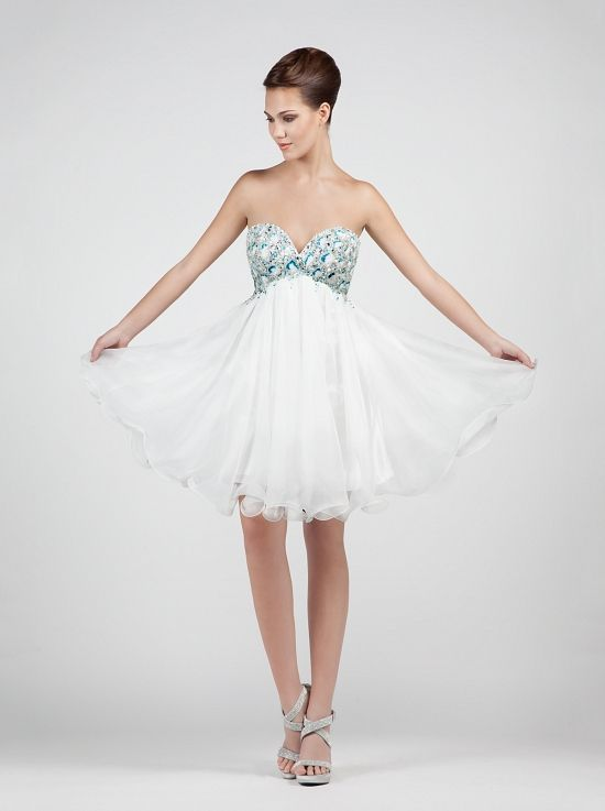 Short wedding dress beading on the bust!! http://mikael.gr/en/previous-collections/AG11820-1.html
