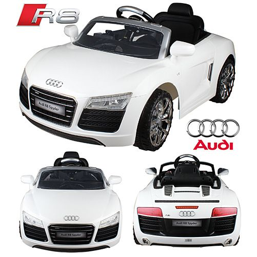 audi r8 spyder v10 weiss audi r8 spyder v10 coupe kinder elektroauto elektro kinderauto. Black Bedroom Furniture Sets. Home Design Ideas