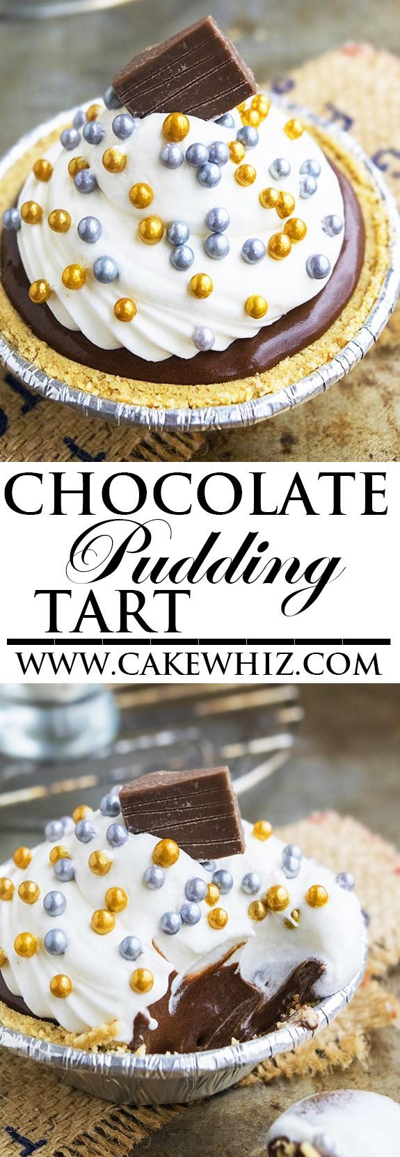 This easy no bake CHOCOLATE CORNSTARCH PUDDING TART is egg free and made with only a few simple ingredients from your pantry. This simple chocolate pudding is rich and creamy and can be enjoyed as is, or in a pie or tart filling. From http://cakewhiz.com