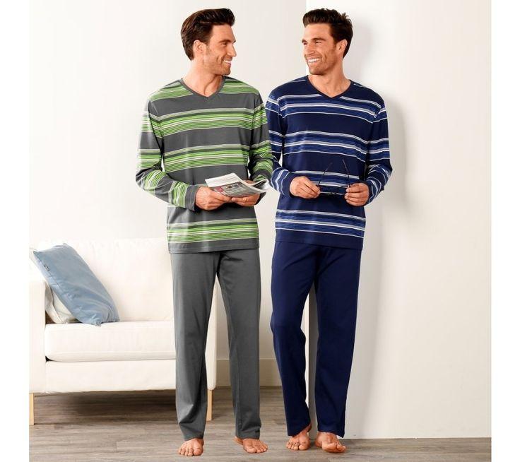 Pyžamo s kalhotami, proužky | blancheporte.cz #blancheporte #blancheporteCZ #blancheporte_cz #panskamoda