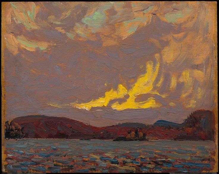 Tom Thomson - Canoe Lake, 1915, oil on wood
