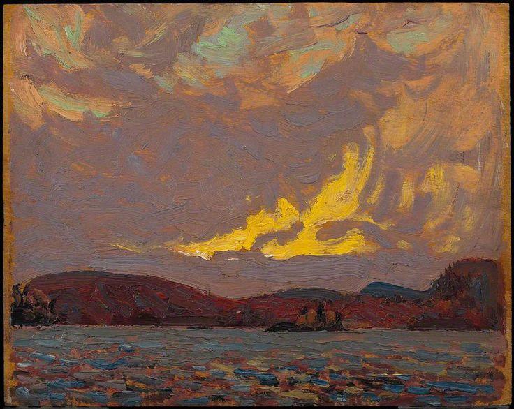 Tom Thomson - Canoe Lake, 1915, oil on wood