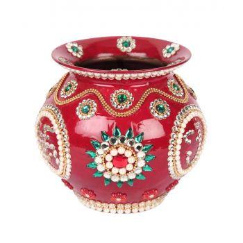 Decorative Copper Kalash Moti work