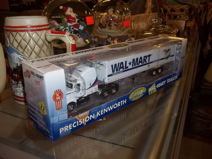 Wal-mart collectible toy semi truck limited edition Gearbox Precision Series Kenworth tractor cab and trailer in original box 9788